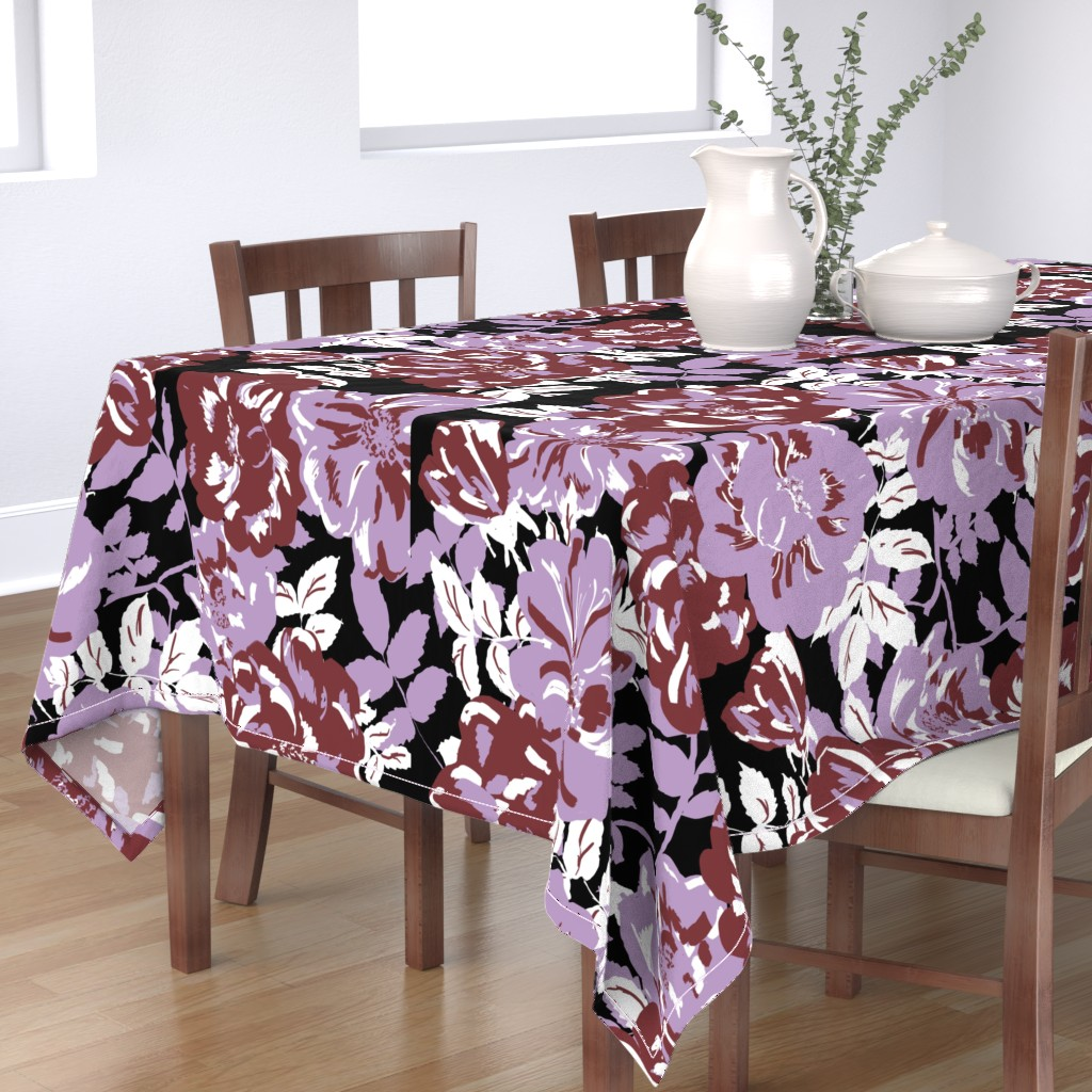 Bantam Rectangular Tablecloth featuring Wildroses by susanna_nousiainen