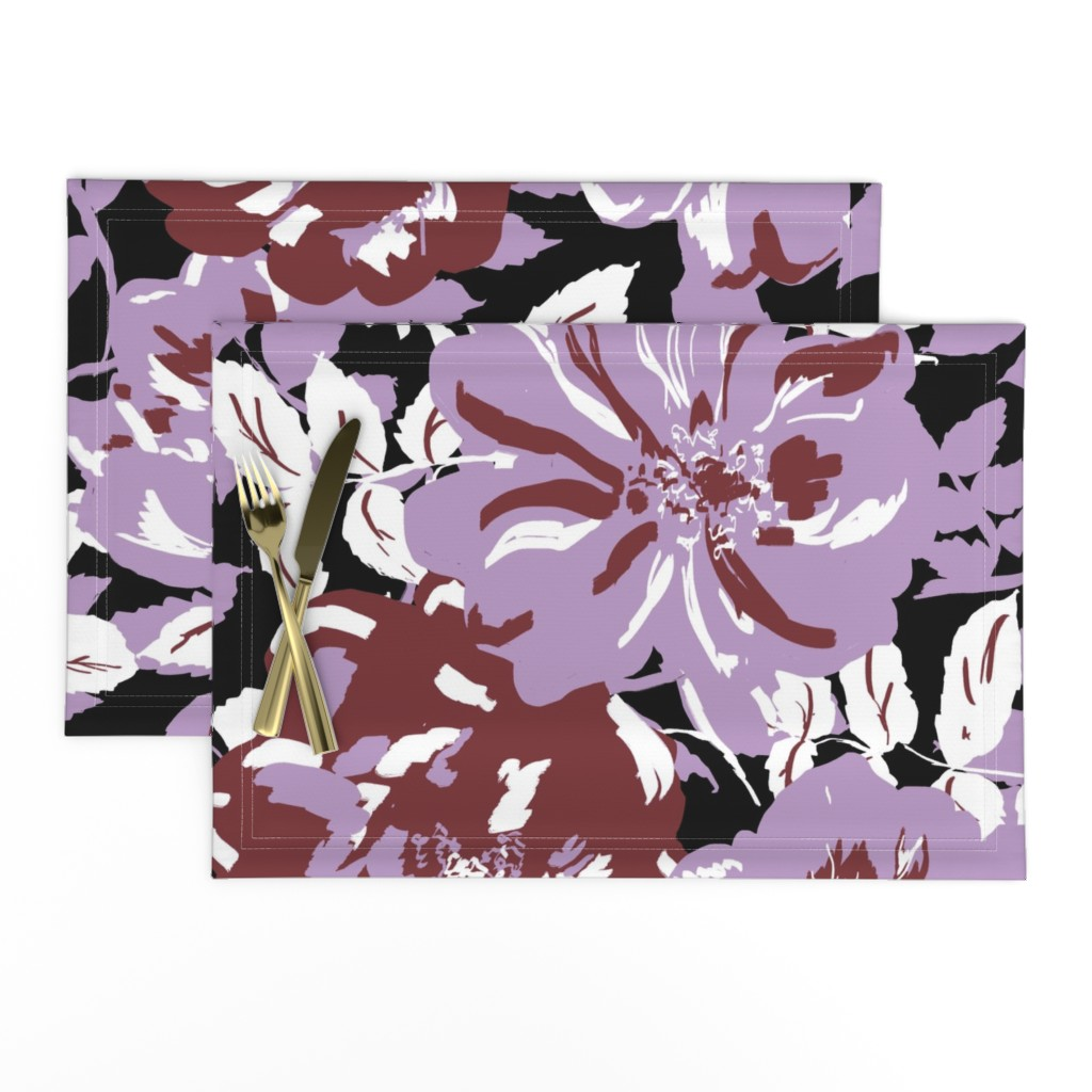 Lamona Cloth Placemats featuring Wildroses by susanna_nousiainen