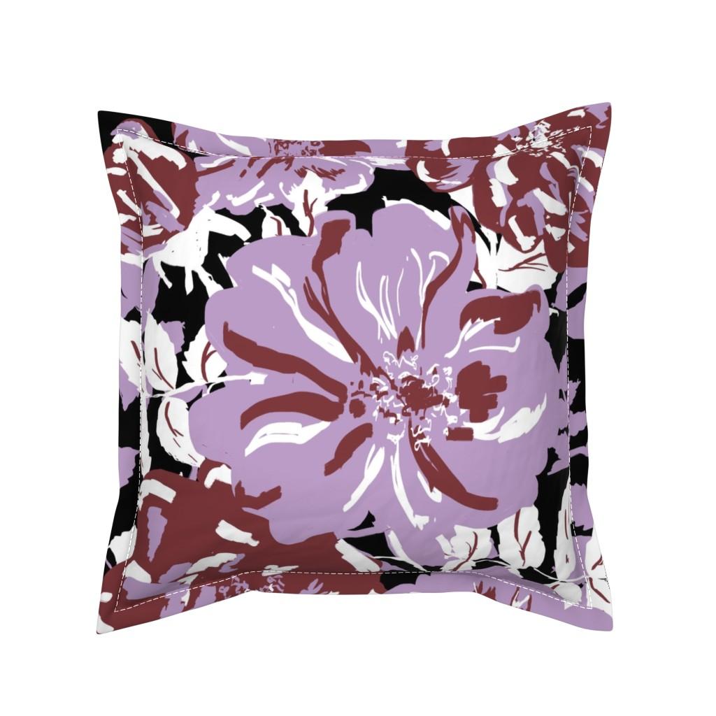 Serama Throw Pillow featuring Wildroses by susanna_nousiainen