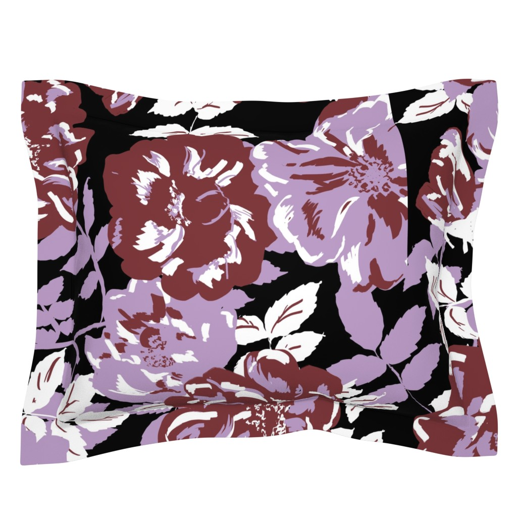 Sebright Pillow Sham featuring Wildroses by susanna_nousiainen