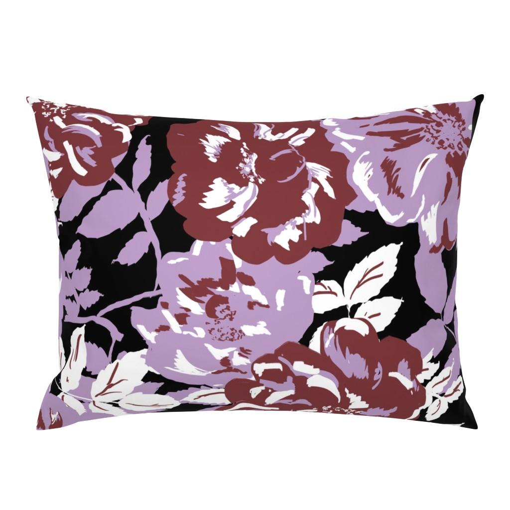Campine Pillow Sham featuring Wildroses by susanna_nousiainen