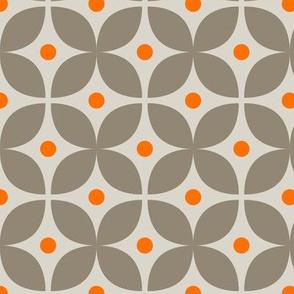 Geometric Pattern: Stylised Flower: Grey