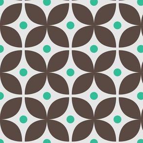 Geometric Pattern: Stylised Flower: Brown