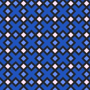 Geometric Pattern: Weave: Blue