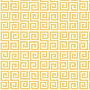 Geometric Pattern: Key Serpentine: Yellow