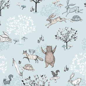 Blue The Tortoise and The Hare / Aesop's Fable / Woodland Nursery