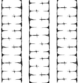 Scribble Goth - Cross Stripe 2 in white