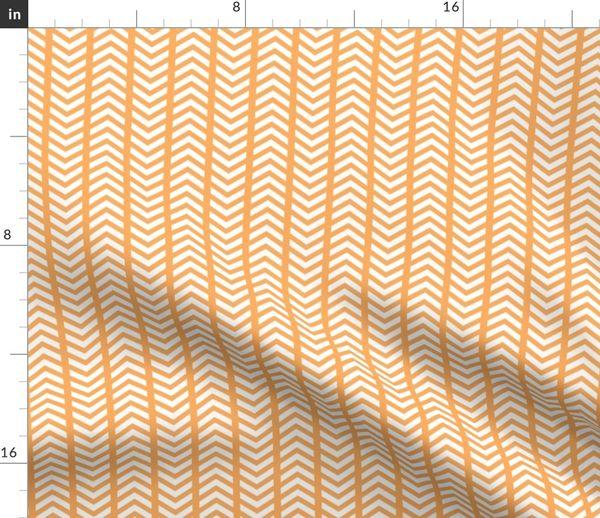 Stoff Meterware Chevron, hübsch, orange und weiß, Spalten