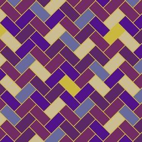 Purple Herringbone