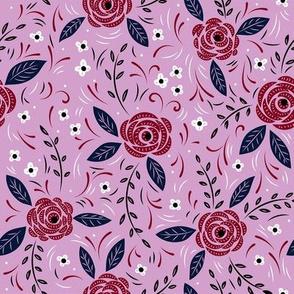 Wild Roses (Purple)