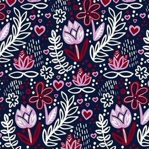 Orchid Limited Color Palette Floral Tulip