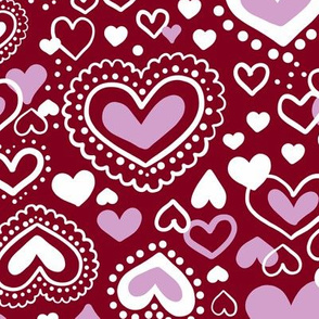 Orchid Limited Color Palette Valentines Hearts