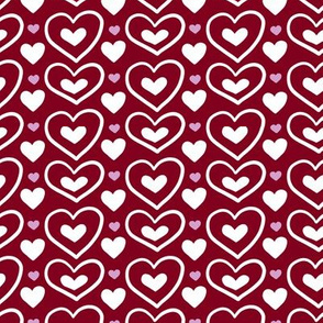 Orchid Limited Color Palette Simple Valentines Hearts