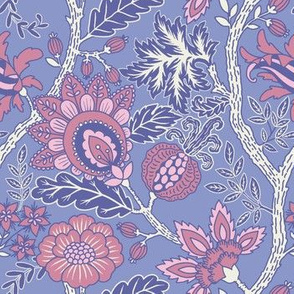 Pink and powder blue Indienne small