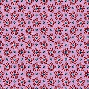 Tiny Iris Circle Flowers