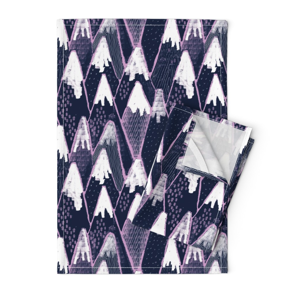 Orpington Tea Towels featuring Snow mountains by ruth_robson