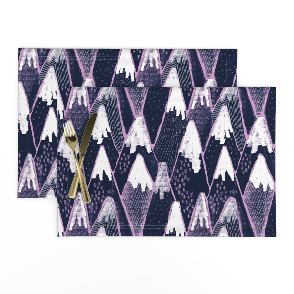 Lamona Cloth Placemats featuring Snow mountains by ruth_robson