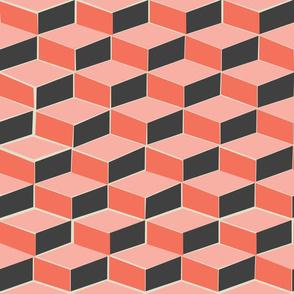 retro cubes in orange