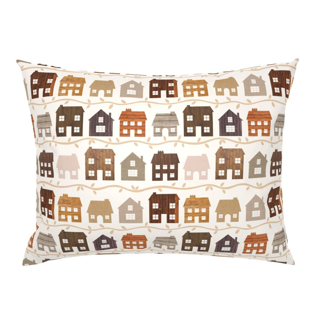 Campine Pillow Sham featuring Modern Country Farmhouses by thewellingtonboot