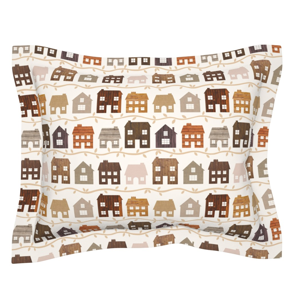 Sebright Pillow Sham featuring Modern Country Farmhouses by thewellingtonboot