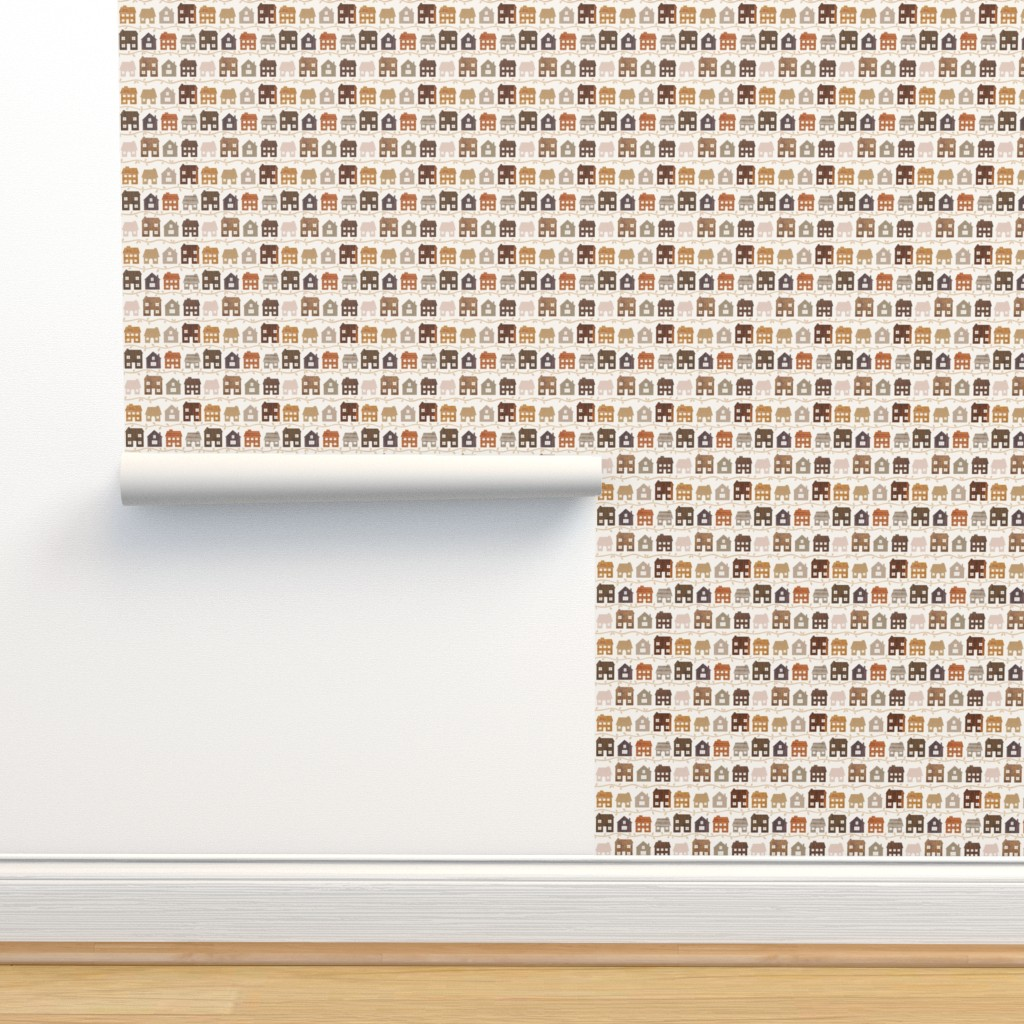 Isobar Durable Wallpaper featuring Modern Country Farmhouses by thewellingtonboot