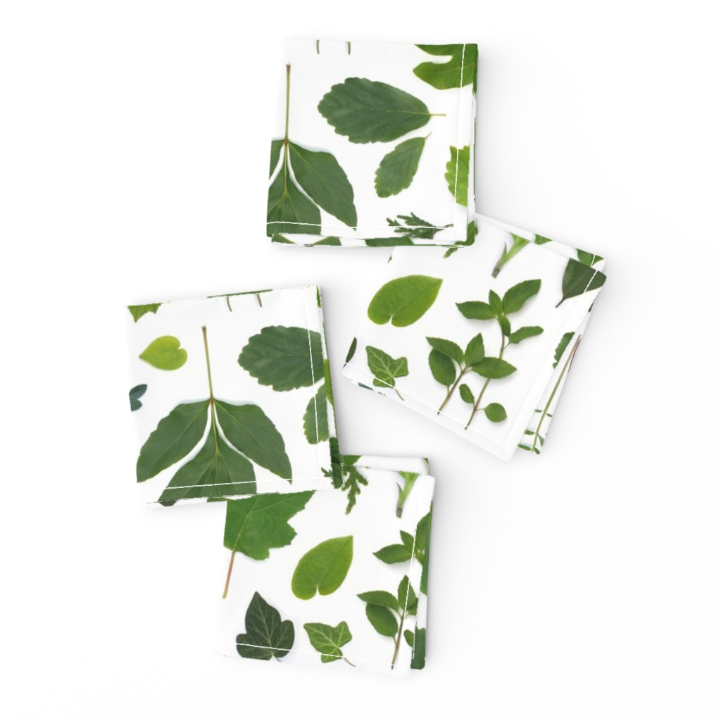 Frizzle Cocktail Napkins featuring green leaves of summer by bottle_branch