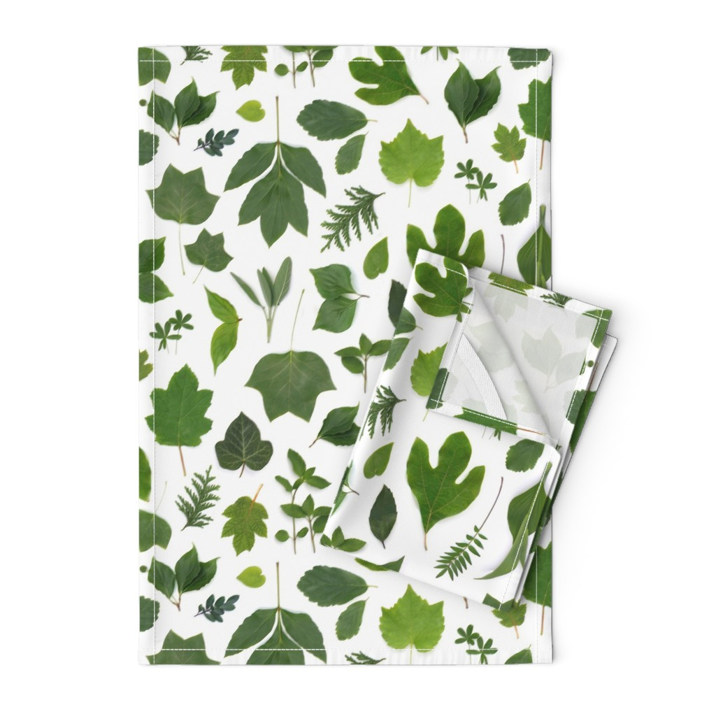 Orpington Tea Towels featuring green leaves of summer by bottle_branch