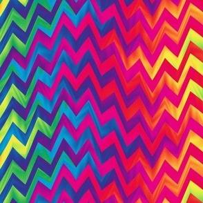 rippling rainbow zigzag