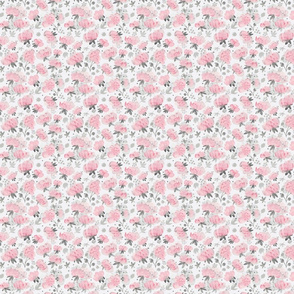 Pink Watercolor Peonies Floral Pattern Small