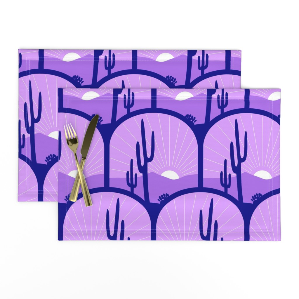 Lamona Cloth Placemats featuring desert deco by hannafate
