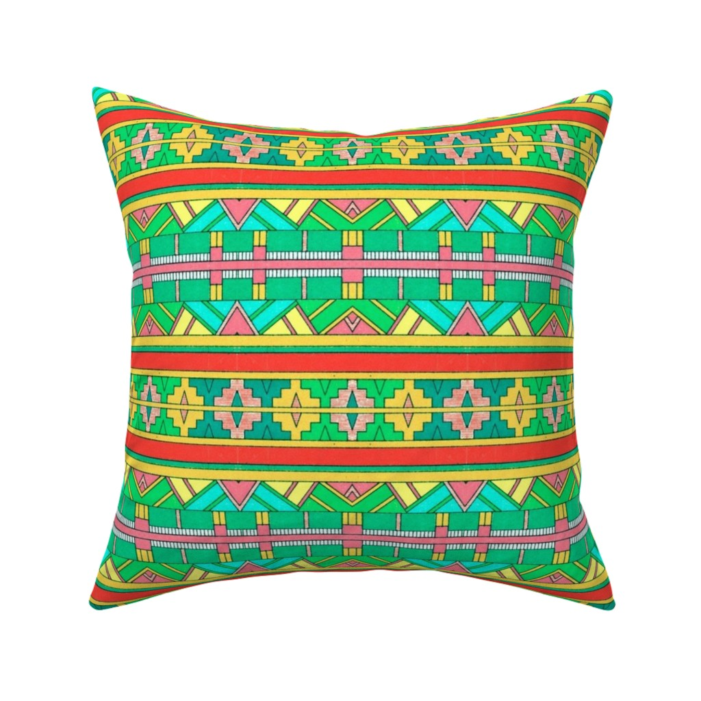 Catalan Throw Pillow featuring primitif 79 by hypersphere