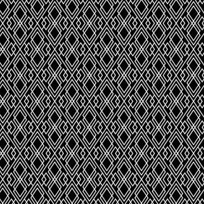 Witchy Diamond Grid - Black