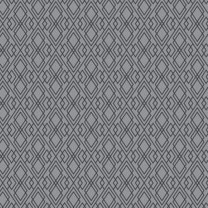 Witchy Diamond Grid - Gray