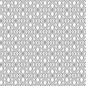 Witchy Diamond Grid - White