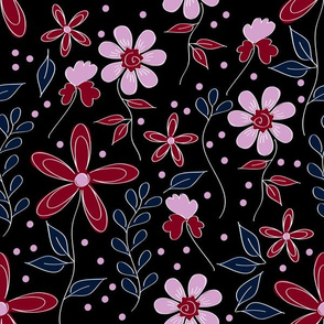 7266770-burgundy-floral-by-hollydiane