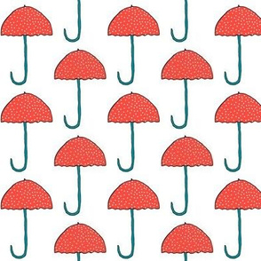 Colorful Polka Dot Umbrellas