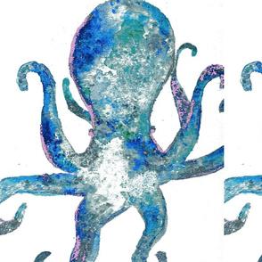 moody blue octopus
