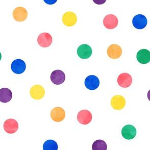 """1.5"""" polka - multi rainbow"""