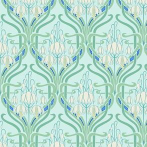 Art Nouveau Flowering Buds Cool Coloring