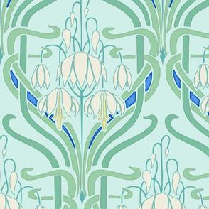 Art Nouveau Flowering Buds Cool Large