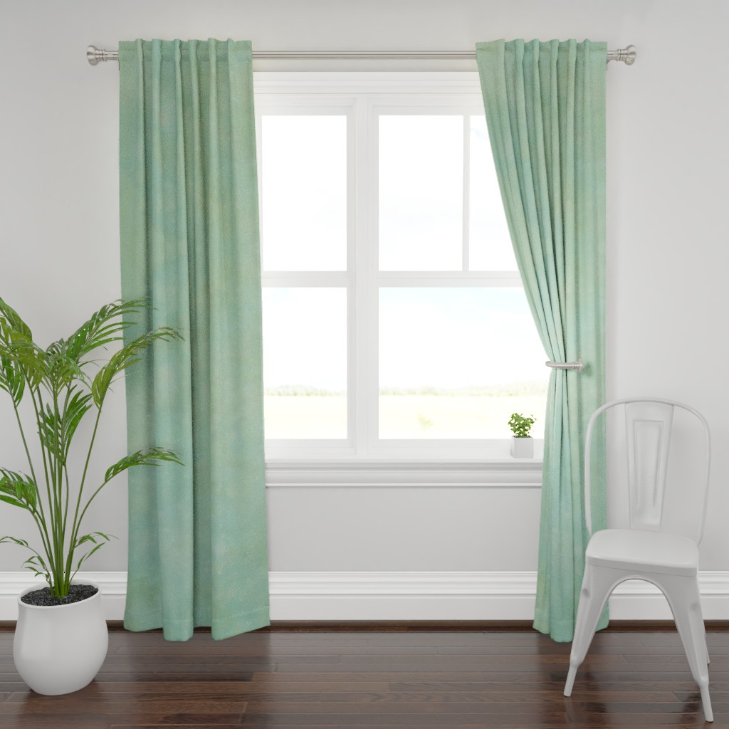 Plymouth Curtain Panel featuring Sage green galaxy by aspie_giraffe
