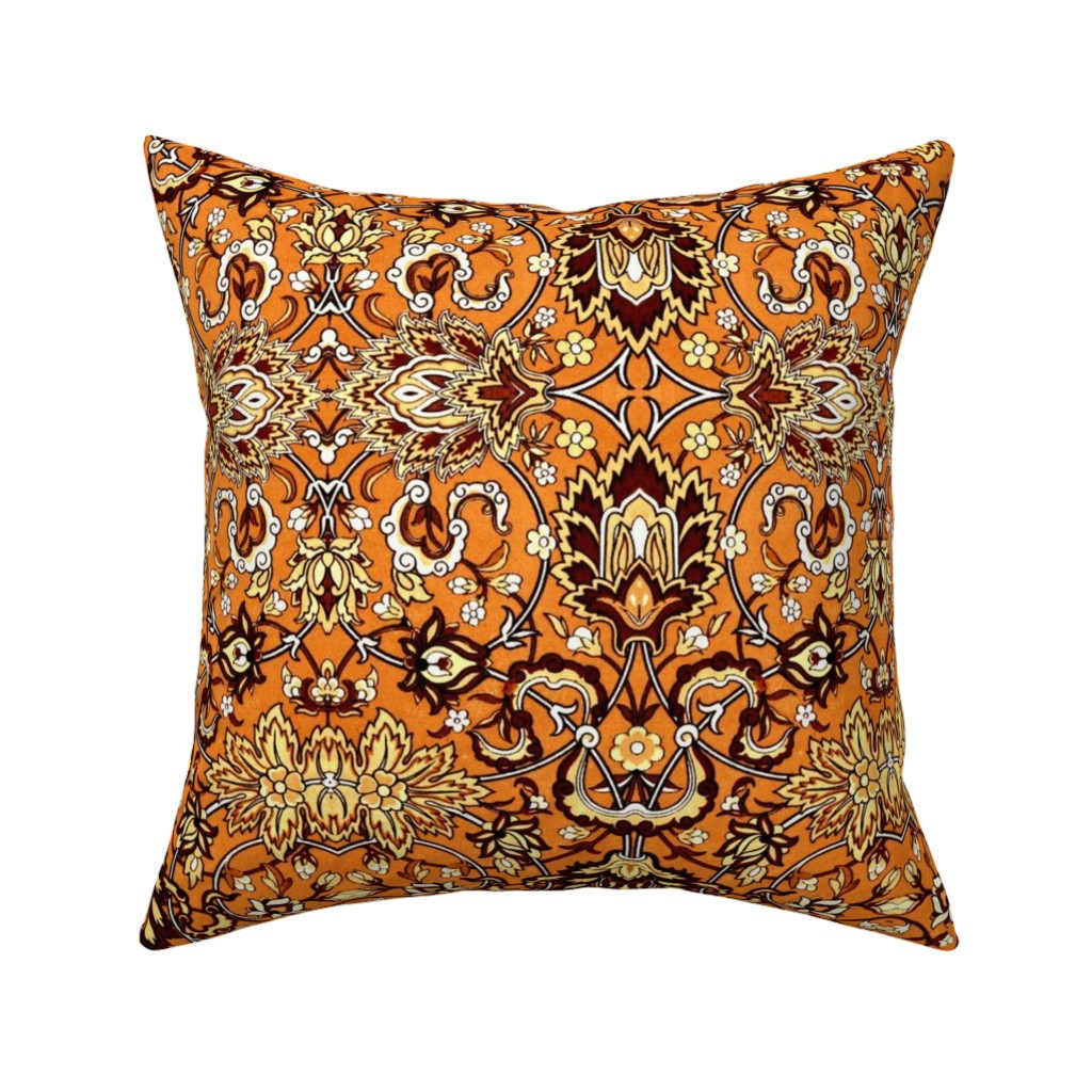 Catalan Throw Pillow featuring florachrome by hypersphere