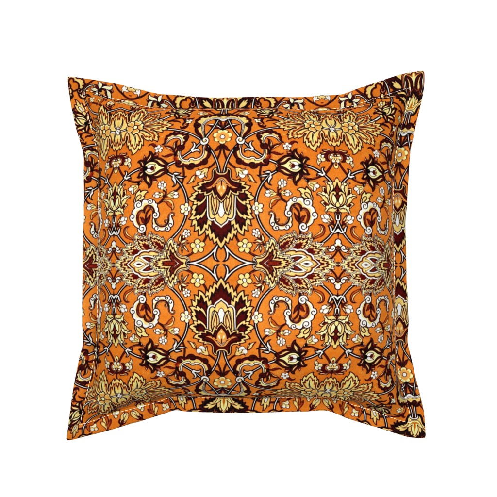Serama Throw Pillow featuring florachrome by hypersphere