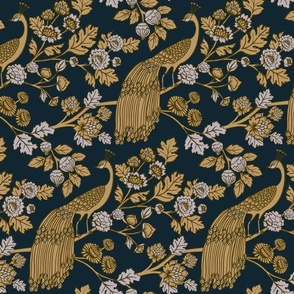 Peacock Garden {Midnight/Gold}