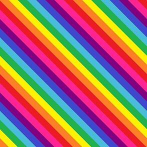 Rainbow Pride Stripes (eight stripe, Baker design) Diagonal
