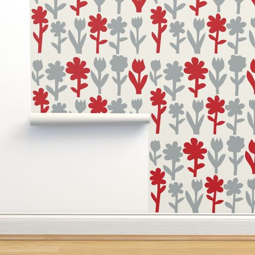 Wallpaper Pop Goes The Flowers Silverred Light