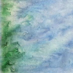 Background Blue Green Fat Quarter