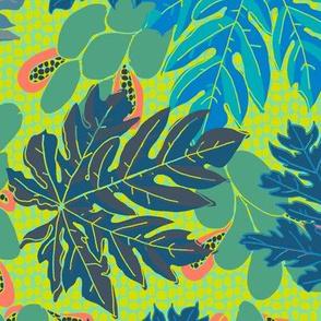 papayas [#3, aquas and greens]
