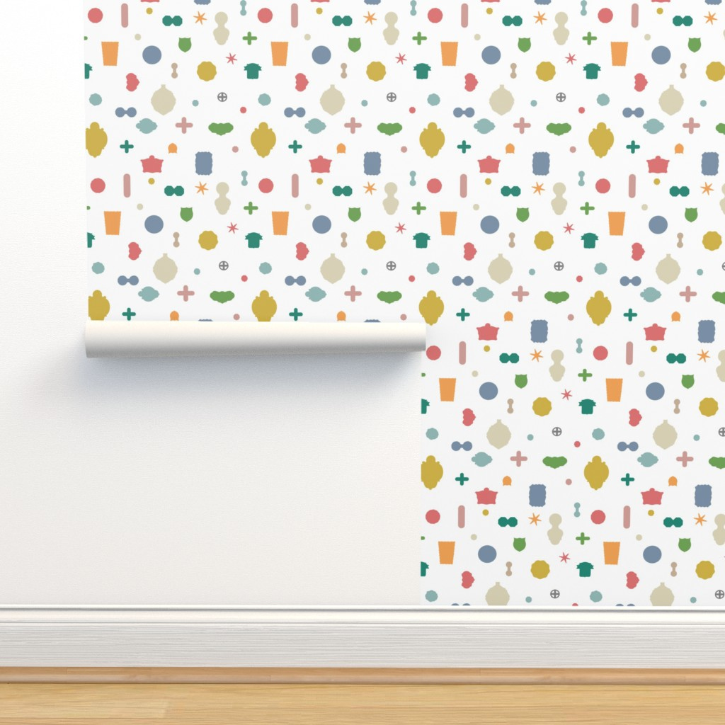 Isobar Durable Wallpaper featuring Tuttotorino - multi white by cinneworthington