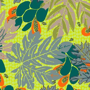 papayas [#8, subdued + bright combo]